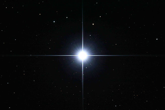 Brightest Star Night Sky